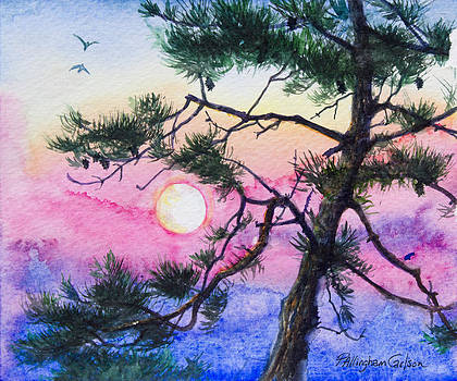 Moonrise Pine by Patricia Allingham Carlson
