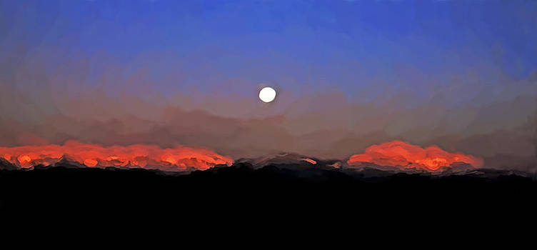 Moonset at Dawn by Patrick Derickson