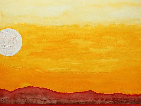 Moonshine original painting SOLD by Sol Luckman