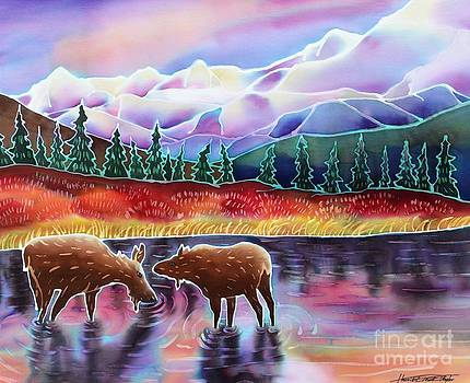 Harriet Peck Taylor - Moose at Rainbow Lake