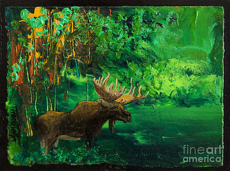 Moose Autumn by Tracy L Teeter