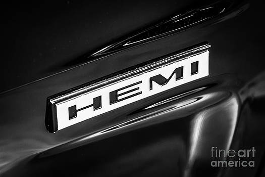 Paul Velgos - Mopar Hemi Emblem Black and White Picture