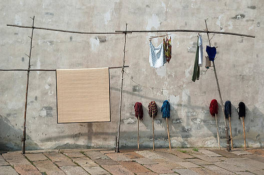 Mops and Laundry 2  Wuzhen China by Rob Huntley