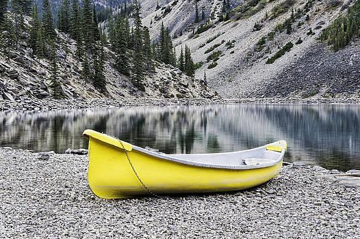 Moraine Lake Canoe by Thomas Chamberlin