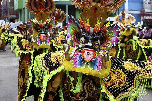 James Brunker - Morenada Dancers at Candelaria Festival