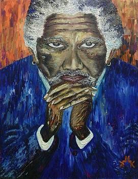 Morgan Freeman by Lettie Krell