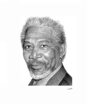Morgan Freeman by Lou Ortiz