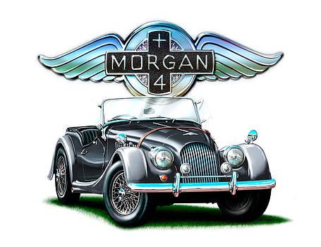 Morgan Plus 4 BlkGray by David Kyte