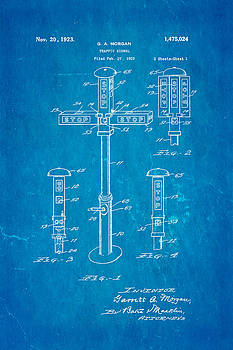 Ian Monk - Morgan Traffic Signal Patent Art 1923 Blueprint