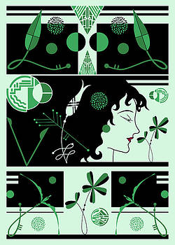 Nancy Lorene - MORIOKA MONTAGE in Green and Black