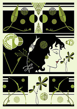 Nancy Lorene - MORIOKA MONTAGE in Olive and Black