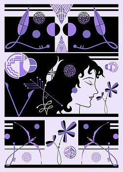 Nancy Lorene - MORIOKA MONTAGE in Purple and Black