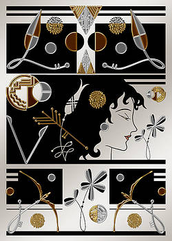Nancy Lorene - MORIOKA MONTAGE in Silver and Gold