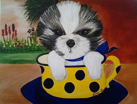 Morkie Tea Latte by Edwina Sage Washington
