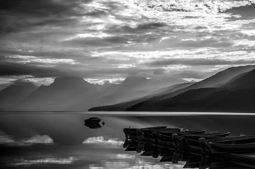 Morning at Lake McDonald by Jeff R Clow