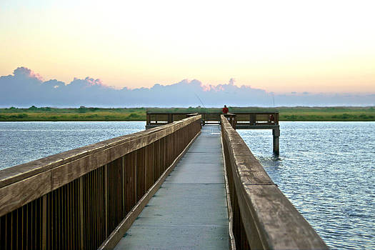 Morning at the Fishing Pier by Jessica Snyder