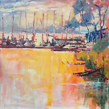 Morning at the Marina by Margaret  Plumb