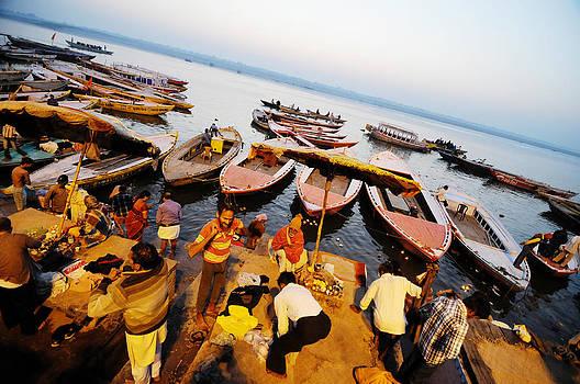 Morning bath at Ganga by Money Sharma
