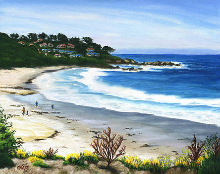 Morning Beach Walk by Colleen Ward