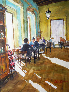 Morning Cafe by Donna Dickson