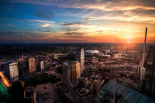 Morning Detroit by Mike Lanzetta