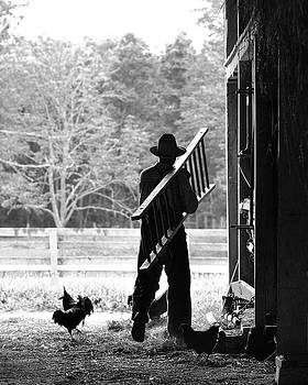 Morning farm chores by Dick Wood