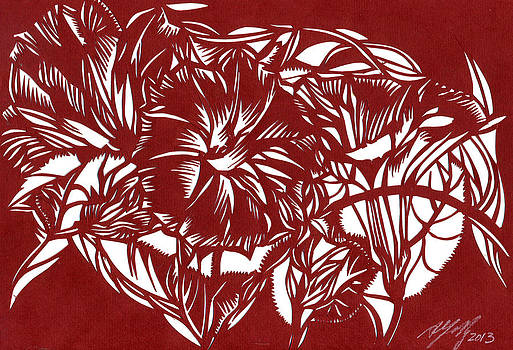 Alfred Ng - morning glory paper cut