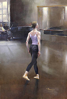 Morning In The Ballet Class by Victor Mordasov