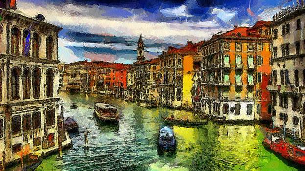 Venice Italy Grande Canale by Georgi Dimitrov