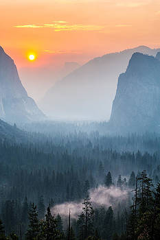 Morning Mist in the Valley by Mike Lee