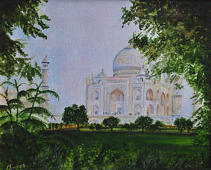 Morning Mist Taj Mahal India by Anees Peterman