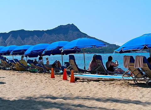 Morning On Waikiki Beach by Michele Myers