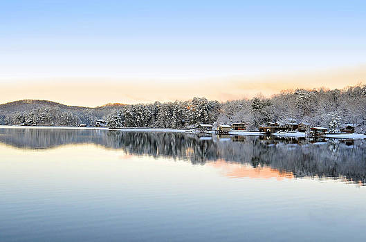 Morning Snowfall by Susan Leggett