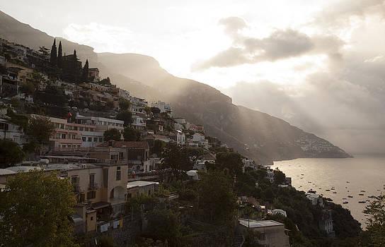 Morning Sun Over Positano by Denise Rafkind
