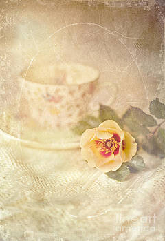 Morning Time Wild Rose and Teacup by Susan Gary