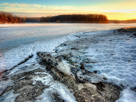 Morning View of Sunris on Kent Lake  by Jenny Ellen Photography