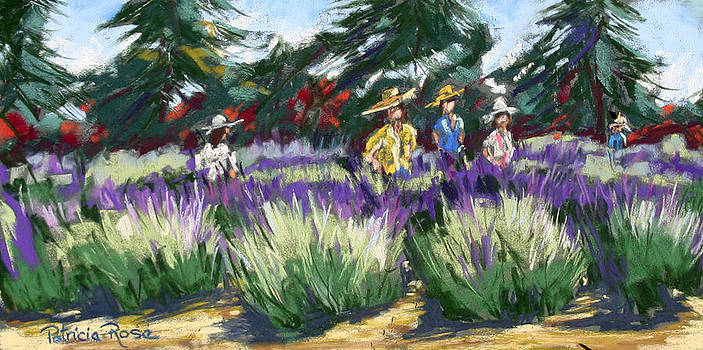 Morning Walk and Lavender by Patricia Rose Ford