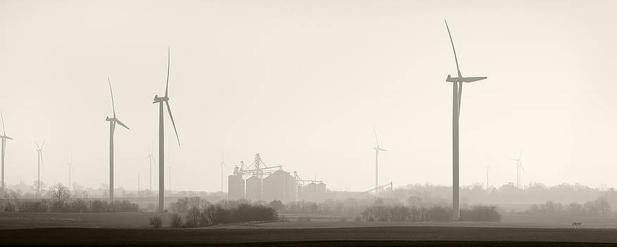 Morning windmills  2 by James Blackwell JR