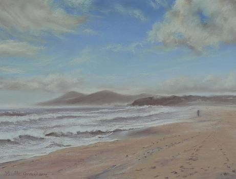 Mornings Haze One Mile Beach Forster by Louise Green