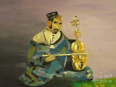 Moroccan Violin Player by Harry Pity