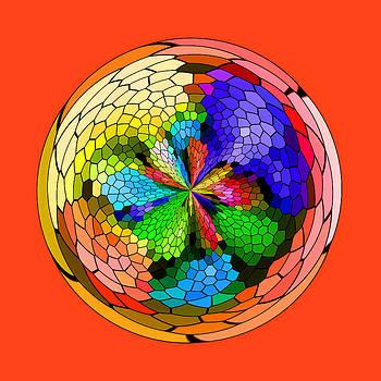 Mosaic Orb 2 by Liz Mackney