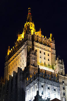 Pravine Chester - Moscow Building at night