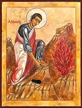 Moses And The Burning Bush Icon 15778