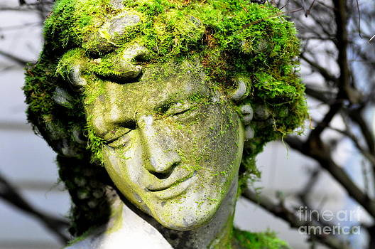 Mossy Bacchus Sculpture in Winter Sun  2 by Tanya  Searcy
