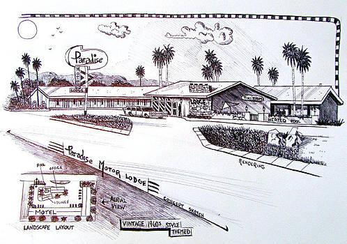 Motel Concept Sketch by Timothy Bettcher