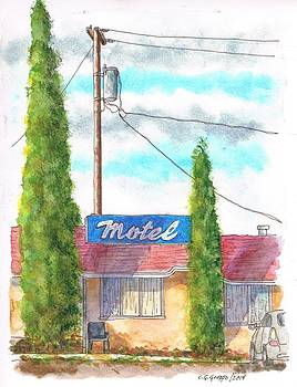 Motel sign in Route 66, Andy Devine Ave., Kingman, Arizona by Carlos G Groppa