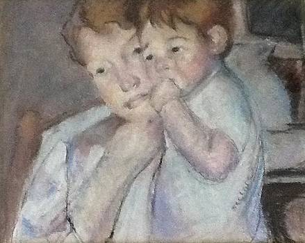 Mother and Child -after Cassatt by Dorothy Siclare