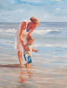 Mother and Child at the Beach by Margaret Aycock
