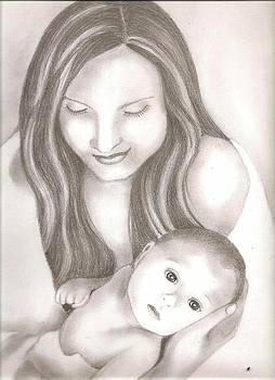 Mother And Child by Bharati Subramanian