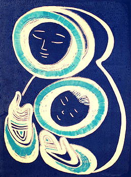 Mother and Child in Blue by Vadim Vaskovsky